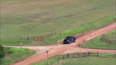 Storm Tracker Pick-Up On Dirt Road Stock Footage
