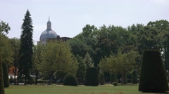 Sant'Andrea church dome seen from Piazza Virgiliana in Mantua Stock Footage