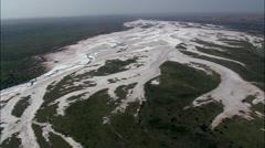 Salt Flat On Cimarron River Stock Footage
