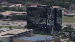 Dallas City Centre From Preston Hollow Stock Footage