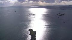 Archipeligo And Coastline Stock Footage