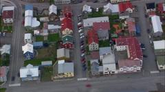 Isafjorour aerial Stock Footage