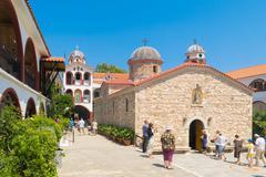 Monastery of Saint David at Evia. - stock photo