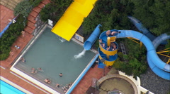 Swimming Pools aerial Stock Footage