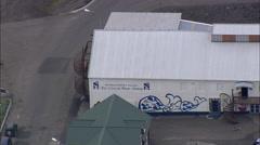 Husavik aerial Stock Footage