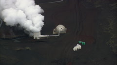 Geothermal Plant At Krafla Stock Footage