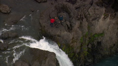 Godafoss Waterfall Stock Footage