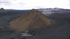 Volcanic Outcrop On Lava Plain Stock Footage