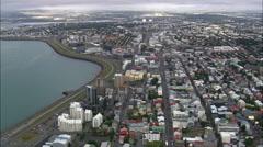 Reykjavik aerial Stock Footage