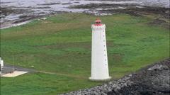 Grotta Lighthouse Stock Footage