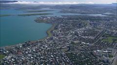 Reykjavik In Sun Stock Footage