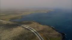 Road Between Reykjavik And International Airport Stock Footage