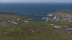 Grindavik, Coastline And Old Lava Beds Stock Footage