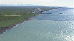 Eyrarbakki aerial Stock Footage