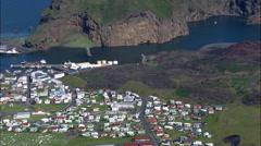 Vestmannaeyar aerial Stock Footage