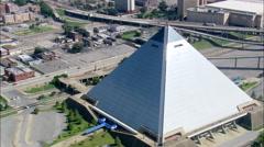 Pryamid Arena aerial Stock Footage