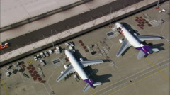 Memphis Airport And Home Of Fedex Stock Footage