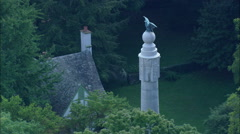 Civil War Memorials On Lookout Mountain Stock Footage