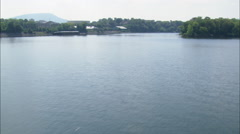 Tennessee River And Chattanooga Stock Footage