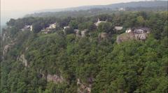 Houses On Escarpment Stock Footage