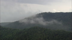 Great Smokey Mountains With Low Clouds Stock Footage