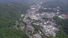 Gatlinburg aerial Stock Footage
