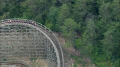 Dollywood Thunderhead Roller Coaster Stock Footage