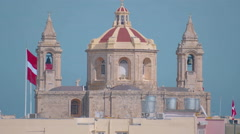 A Maltese Church in Europe Stock Footage