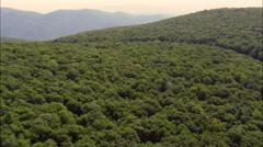 Skyline Drive Shanandoah National Park Stock Footage