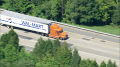 Wal Mart Lorry On Interstate 295 Stock Footage