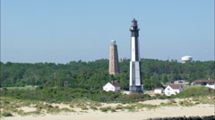 Cape Henry Cross Lighthouses Stock Footage