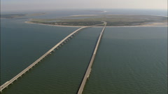 Chesapeake Bay Bridge Tunnel Stock Footage
