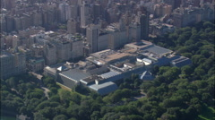 Central Park aerial Stock Footage