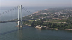 Verrazan-Narrows Bridge Stock Footage