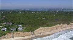 Montauk aerial Stock Footage