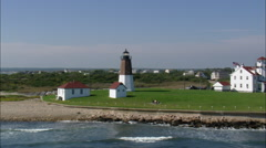 Judith Point Lighthouse Stock Footage