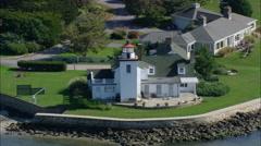 Nayatt Point Lighthouse Stock Footage