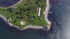Rose Island Lighthouse Stock Footage