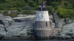 Castle Hill Lighthouse Stock Footage