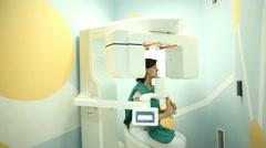 Orthopantomograph, Dental, X-ray Stock Footage