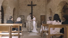 Wedding service in church - stock footage