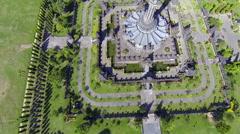 Bajra Sandhi Monument, Denpasar, aerial shot Stock Footage