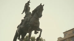 Theodore Kolokotronis Greek independence revolution general,statue,monument Stock Footage