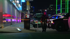 Crime Scene Dallas Greyhound Station Stock Footage