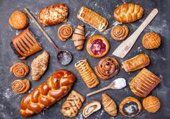 Delicious and sweet seasonal pastry background Stock Photos