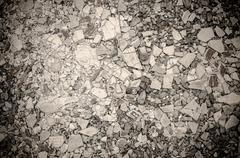 Gravel mix with crack tile texture background Stock Photos