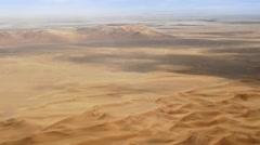 Barren Desert Sand Dunes - Aerial Background Plate Stock Footage