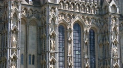 Wells Gothic Cathedral Stock Footage