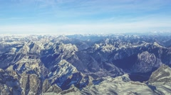 Snowy Mountains - Aerial Background Plate Stock Footage
