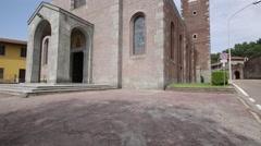 Italy  tuebigo  ancient   religion  building    for catholic and clock tower Stock Footage
